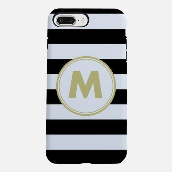 Zebra Striped Monogrammed iPhone 7 Plus Tough Case