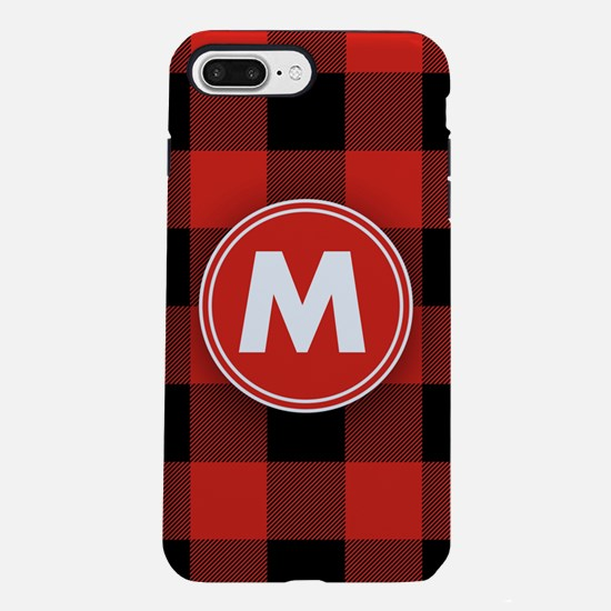 Buffalo Plaid Monogrammed iPhone 7 Plus Tough Case