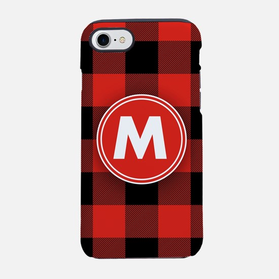 Buffalo Plaid Monogrammed iPhone 7 Tough Case