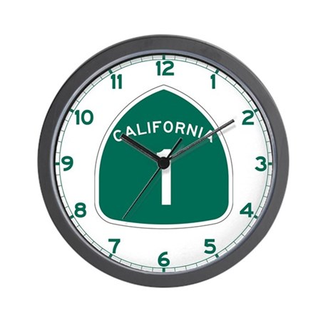 State Route 1, California Wall Clock