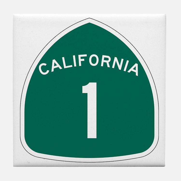 State Route 1, California Tile Coaster