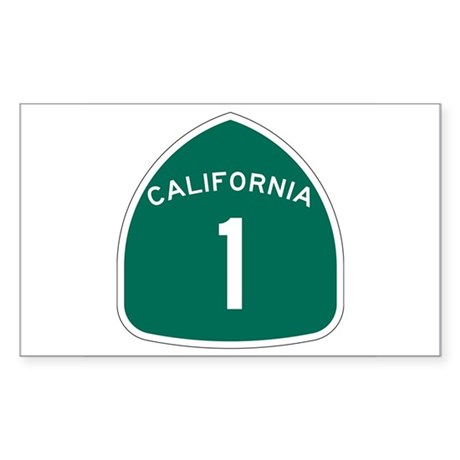 State Route 1, California Rectangle Sticker