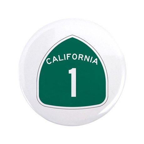 """State Route 1, California 3.5"""" Button (100 pack)"""