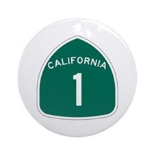 State Route 1, California Ornament (Round)