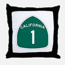 State Route 1, California Throw Pillow