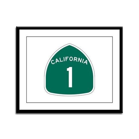 State Route 1, California Framed Panel Print