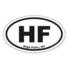 High Falls HF Euro Oval Stickers