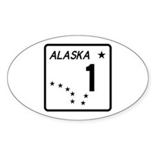 Route 1, Alaska Oval Decal