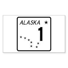 Route 1, Alaska Rectangle Sticker 10 pk)