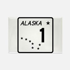 Route 1, Alaska Rectangle Magnet