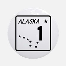 Route 1, Alaska Ornament (Round)