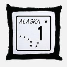 Route 1, Alaska Throw Pillow