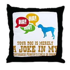 Portuguese Pointer Throw Pillow