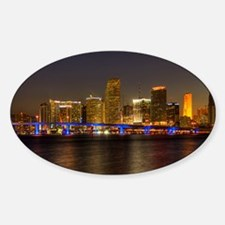 Miami at Night Oval Decal
