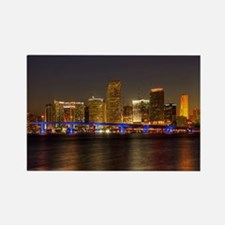 Miami at Night Rectangle Magnet