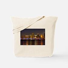 Miami at Night Tote Bag