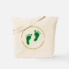 Carbon Footprint Renewable En Tote Bag