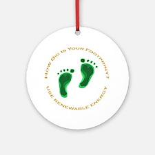 Carbon Footprint Renewable En Ornament (Round)