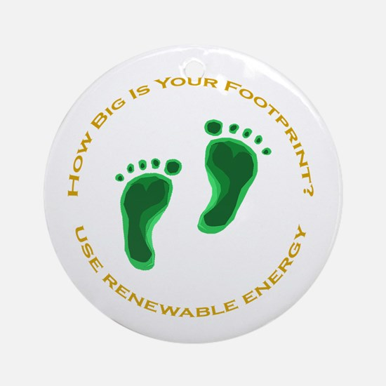 Carbon Footprint Renewable En Ornament (Round)