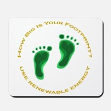 Carbon Footprint Renewable En Mousepad