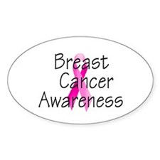 Breast Cancer Awareness 3 Oval Decal