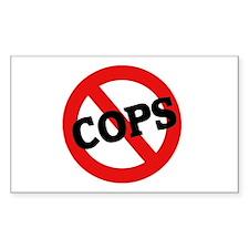 Anti-Cops Rectangle Decal