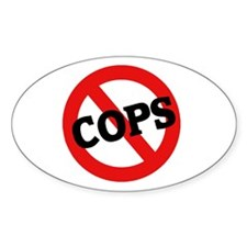 Anti-Cops Oval Decal