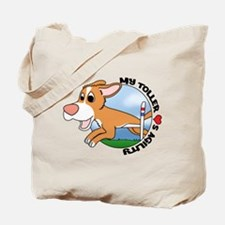 Cartoon Toller Agility Tote Bag