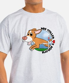 Cartoon Toller Agility T-Shirt
