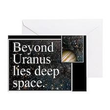 Beyond Uranus Greeting Card