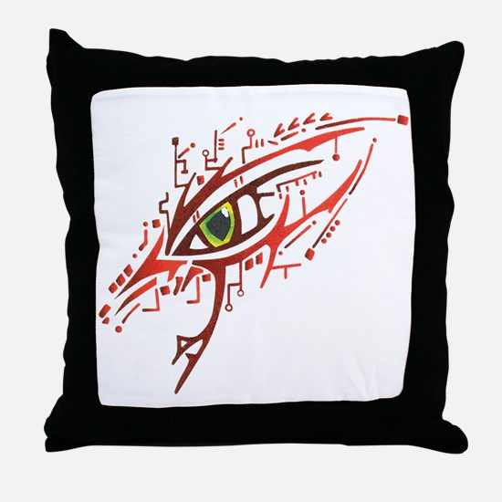 Cyber Eye Throw Pillow