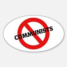 Anti Communists Oval Decal