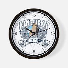 Save the Penguins Kentucky Wall Clock