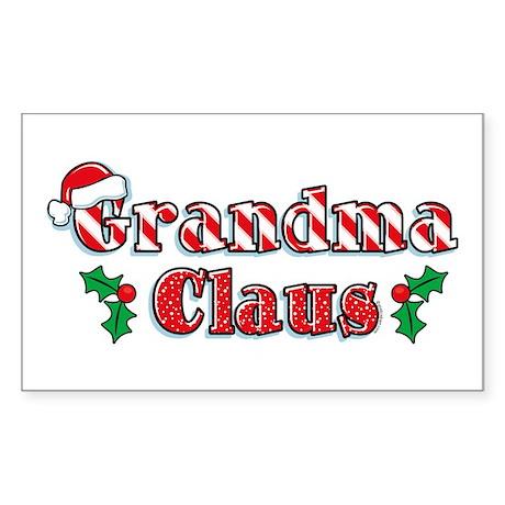 Grandma Claus Rectangle Sticker