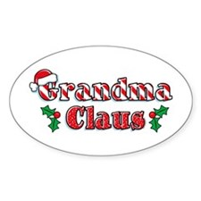 Grandma Claus Oval Decal