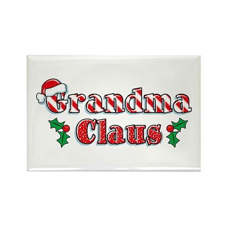 Grandma Claus Rectangle Magnet