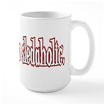 Hello. I'm a sledaholic. Large Mug