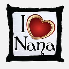 I heart Nana Throw Pillow