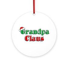 Grandpa Claus Ornament (Round)