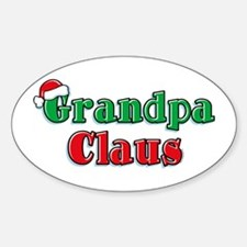 Grandpa Claus Oval Decal