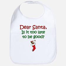Santa Too Late Bib