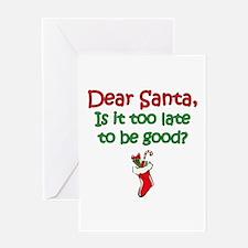 Santa Too Late Greeting Card