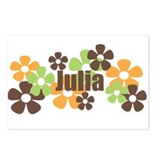 Julia - Fall Flowers Postcards (Package of 8)
