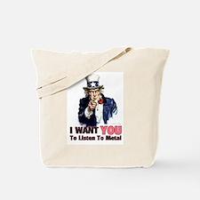 Uncle Sam Listens To Metal Tote Bag