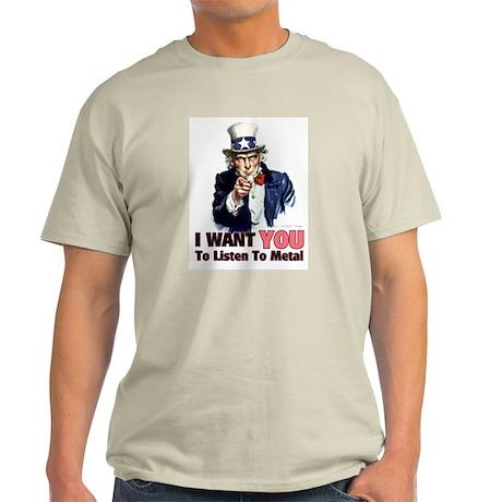 Uncle Sam Listens To Metal Light T-Shirt