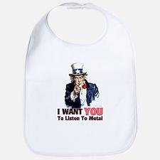 Uncle Sam Listens To Metal Bib