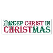 Keep Christ Cross Bumper Bumper Sticker