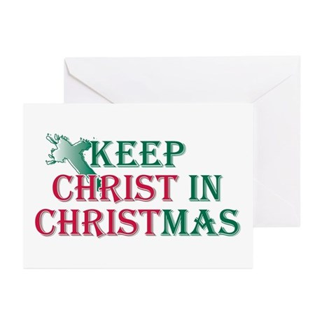 Keep Christ Cross Greeting Cards (Pk of 10)