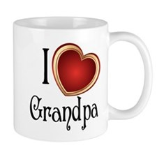 I heart Grandpa Small Mug