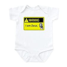Warning: I am Zeus Infant Bodysuit